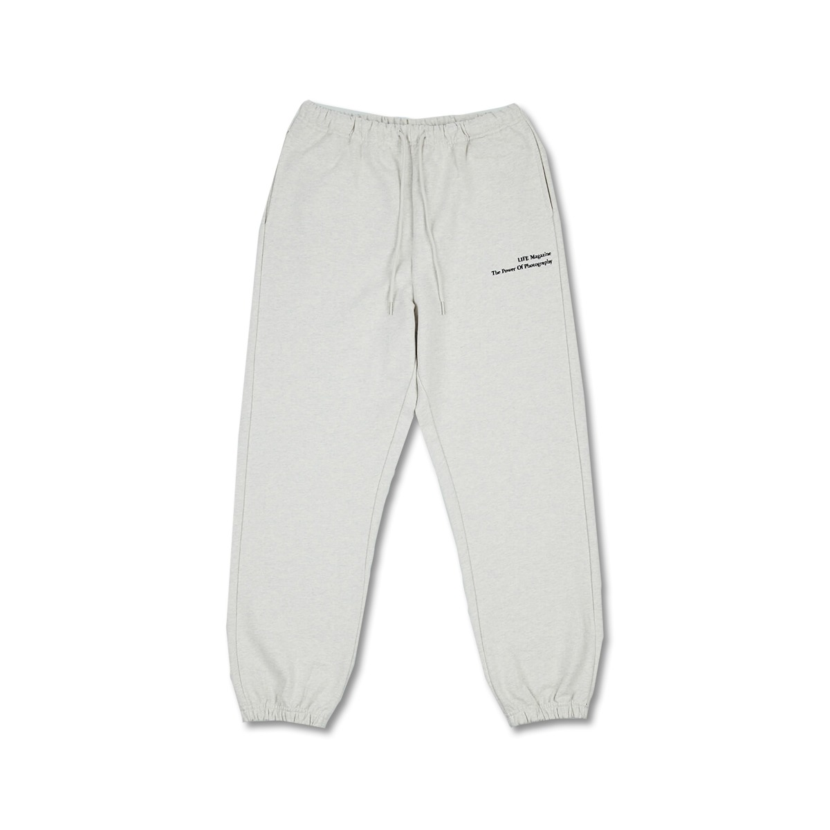 [LIFE ACHIVE] CLASSIC LETTERING SWEAT PANTS 'OATMEAL'