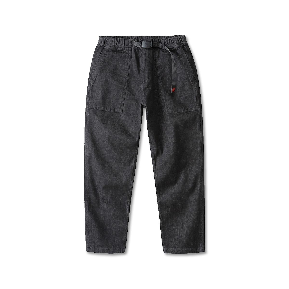 [GRAMICCI] DENIM LOOSE TAPERED PANTS 'BLACK ONE WASH'