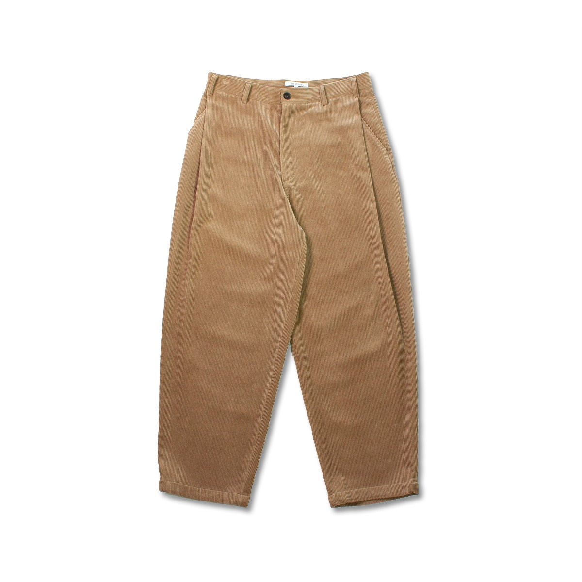 [ART IF ACTS] CORDUROY SIDE TUCKED PANTS 'KHAKI BROWN'