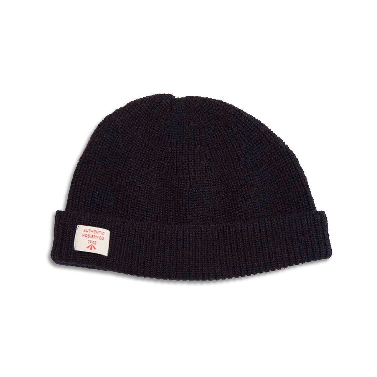 [NIGEL CABOURN] SOLID BEANIE 'BLACK NAVY'