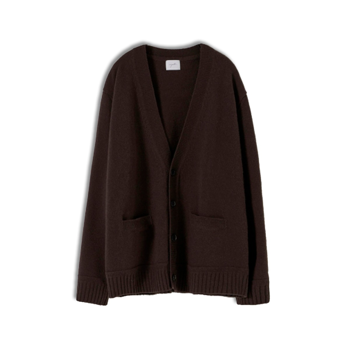 [YOUTH] OVERSIZED CARDIGAN 'DARK BROWN'