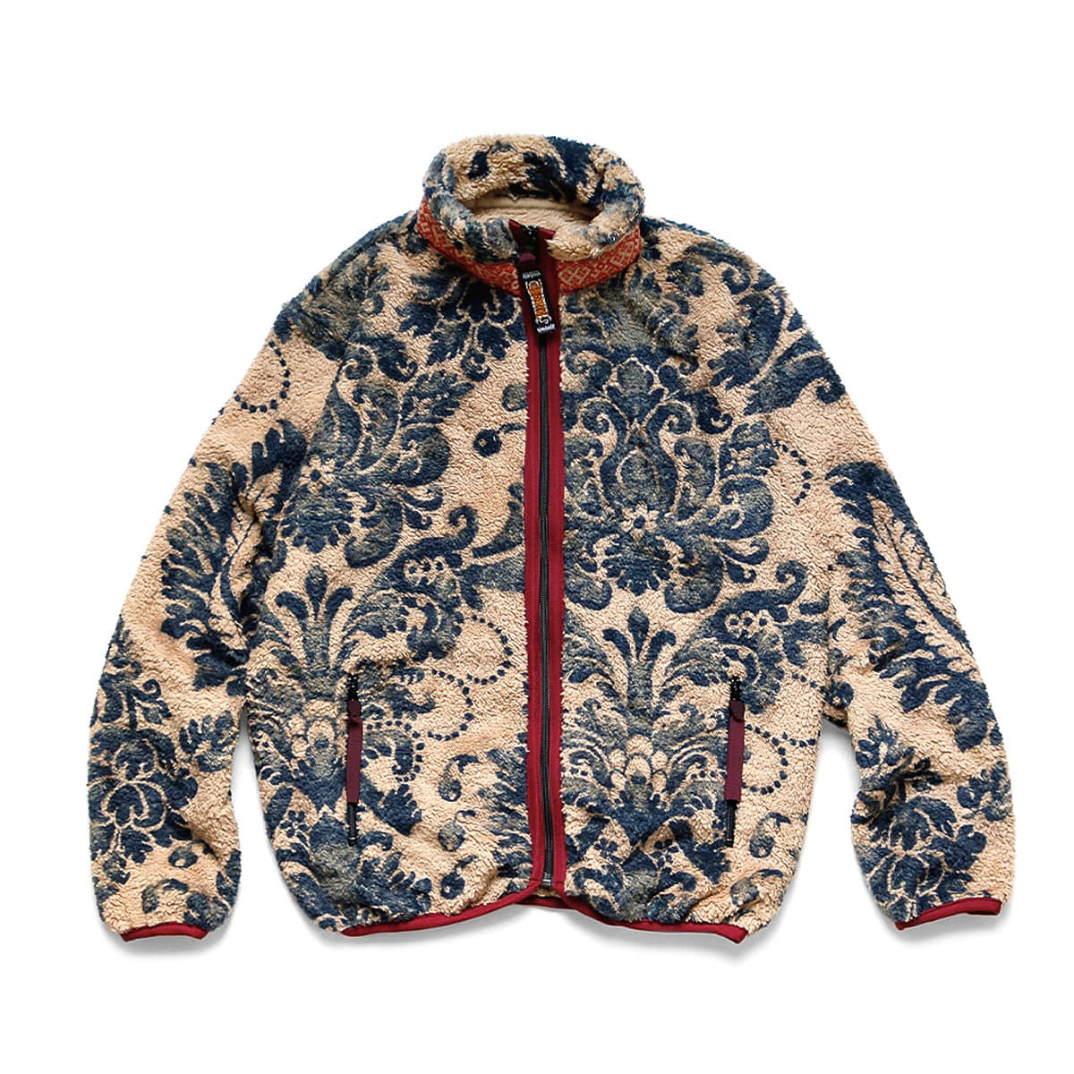 [KAPITAL] DAMASK FLEECE ZIP BLOUSON 'BEIGE'