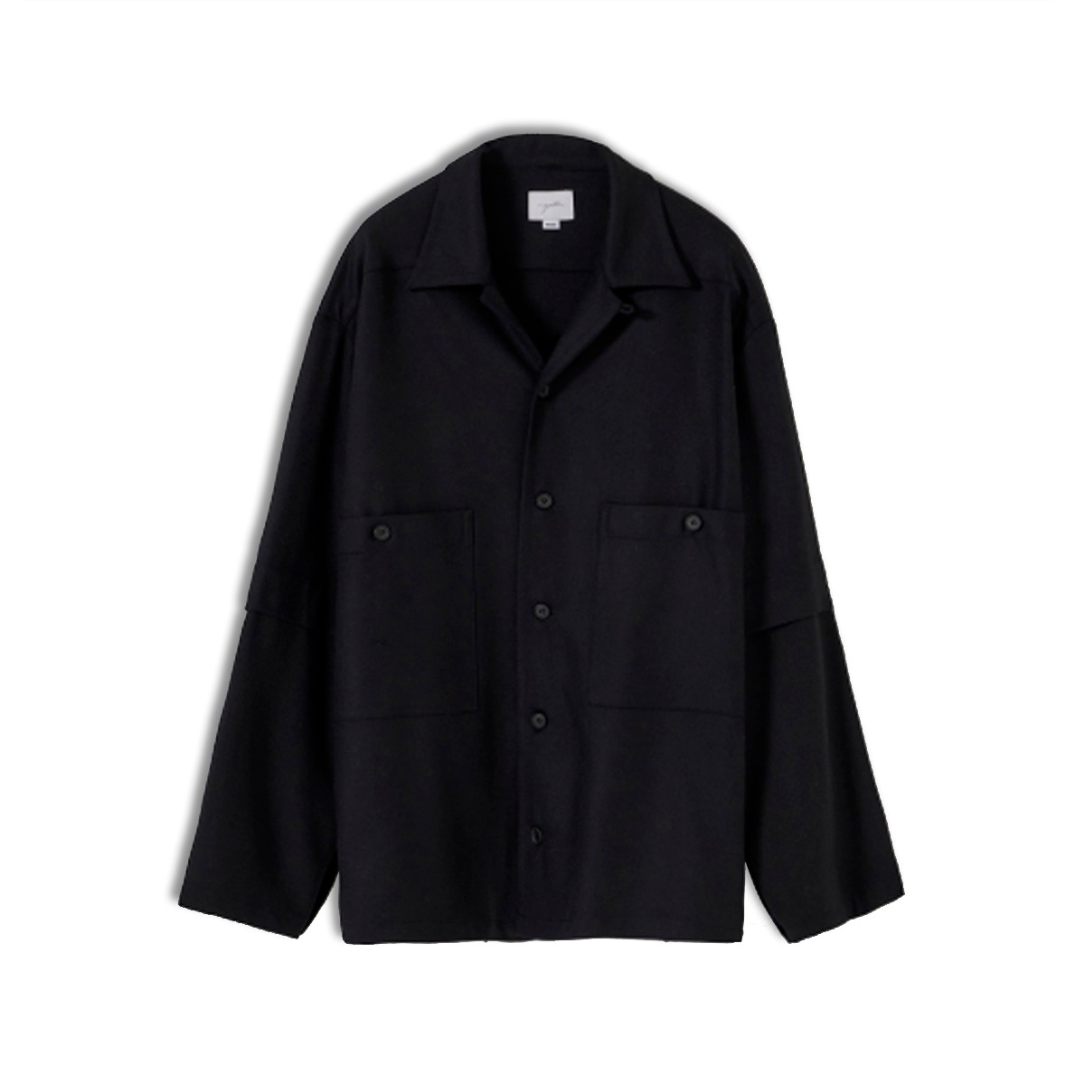 [YOUTH] LAYERED SLEEVE SHIRT 'BLACK'