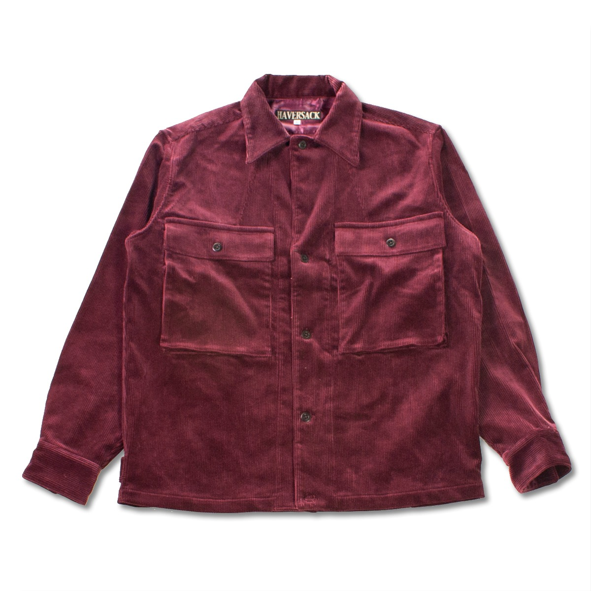 [HAVERSACK] CORDUROY SHIRT JACKET 'BURGUNDY'