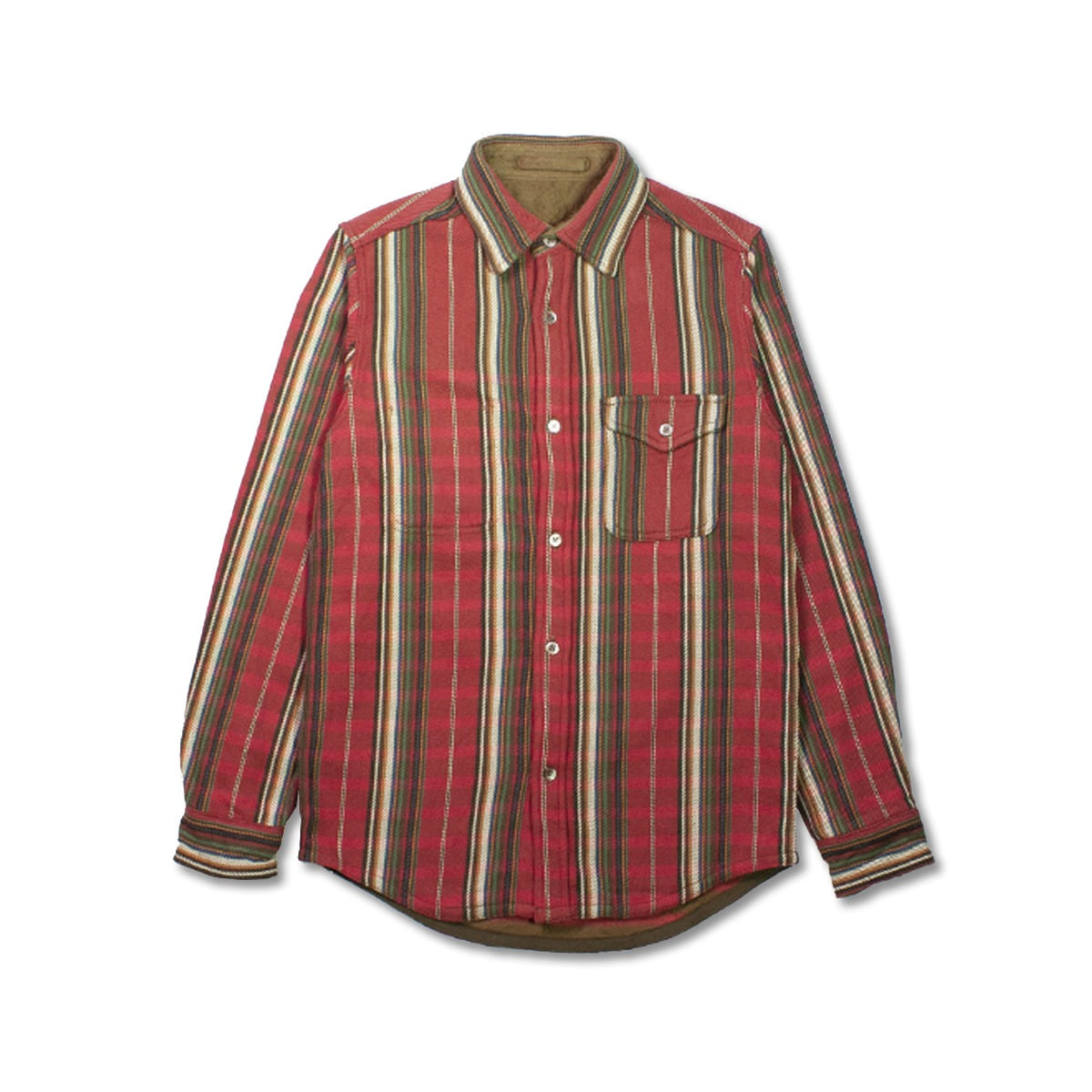 [NIGEL CABOURN] BLANKET REV NEL SH STRIPE 'RED'