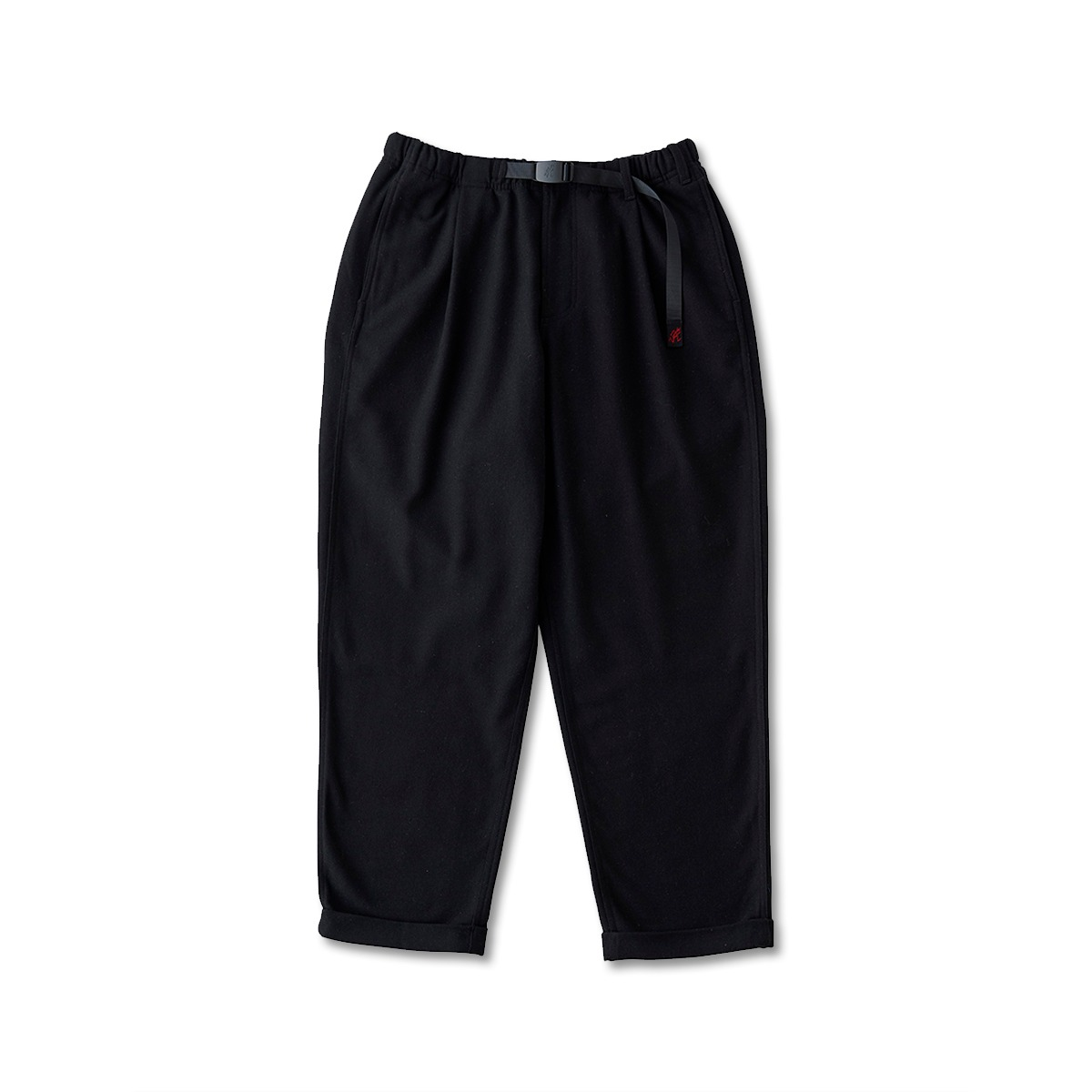 [GRAMICCI] WOOL BLEND TUCK TAPERED PANTS 'BLACK'