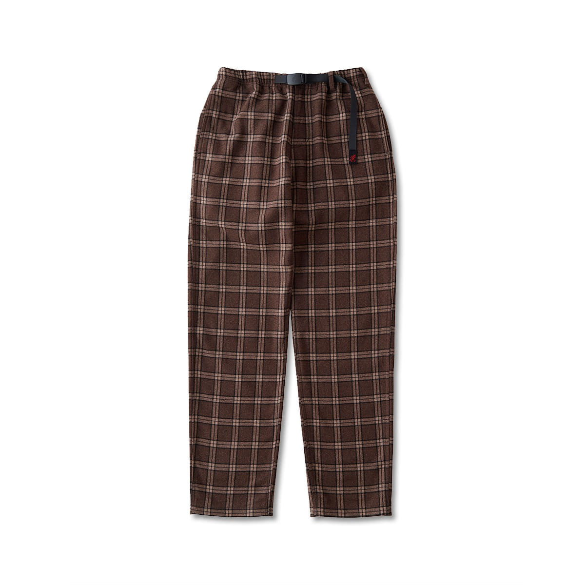 [GRAMICCI] WOOL BLEND GRAMICCI PANTS 'BROWN CHECK'