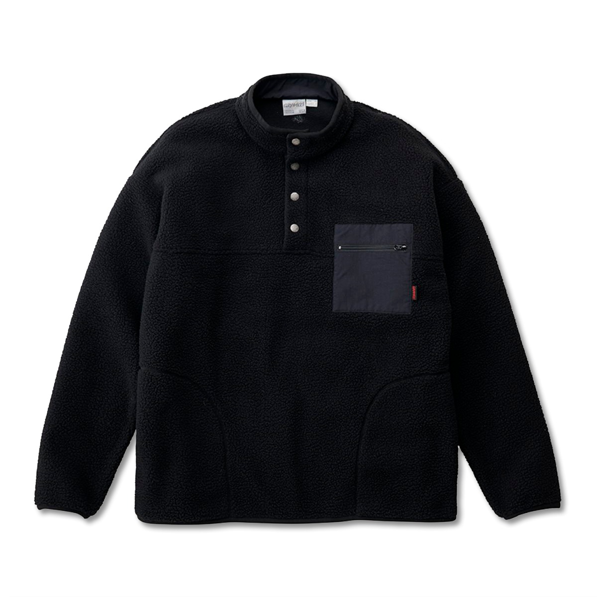 [GRAMICCI] BOA FLEECE PULLOVER SHIRTS 'BLACK'