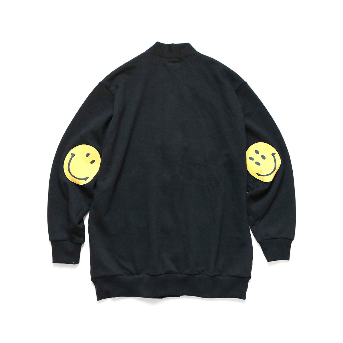 [KAPITAL] ECO FLEECY KNIT CARDIGAN (ELBOW SMILE) 'BLACK'