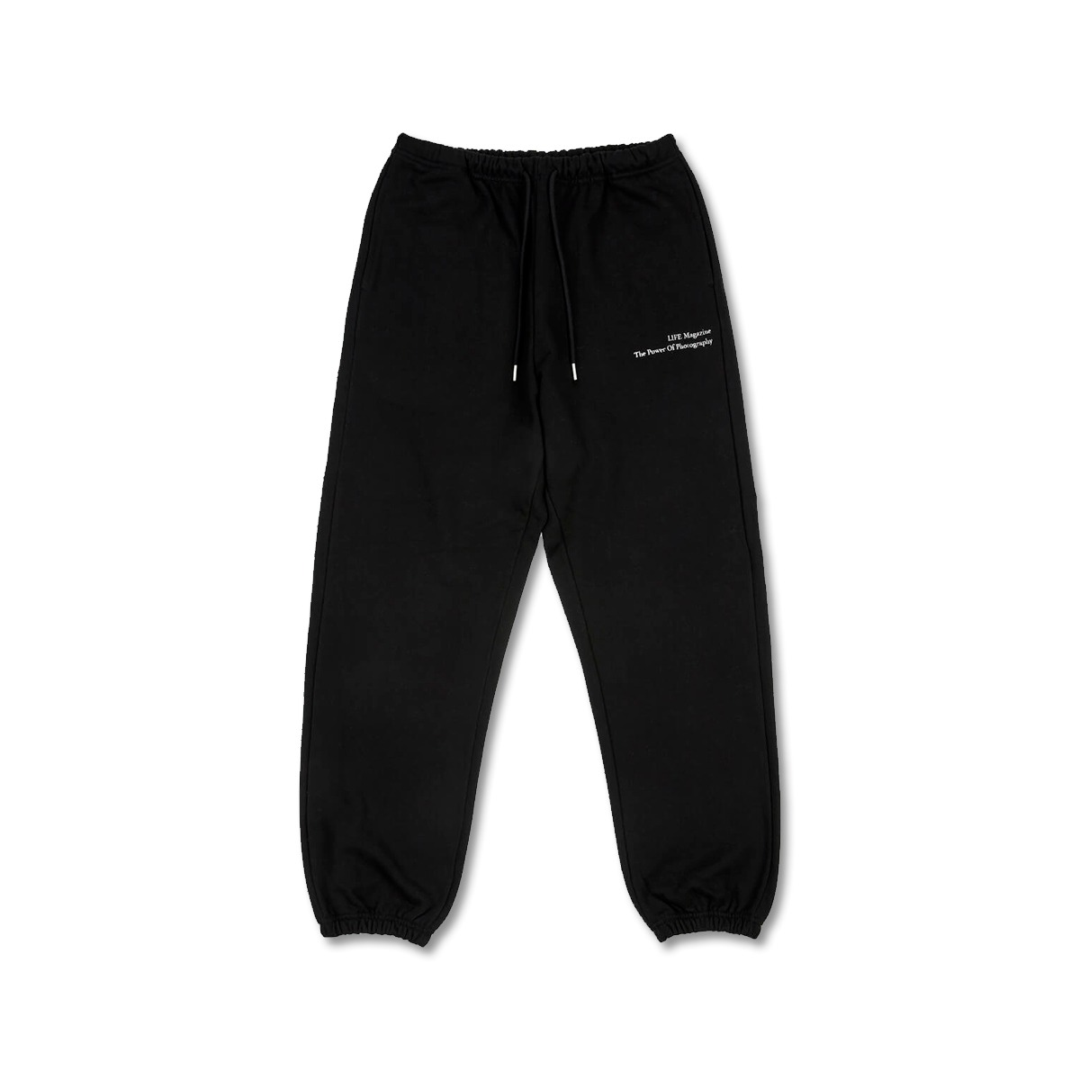 [LIFE ACHIVE] CLASSIC LETTERING SWEAT PANTS 'BLACK'
