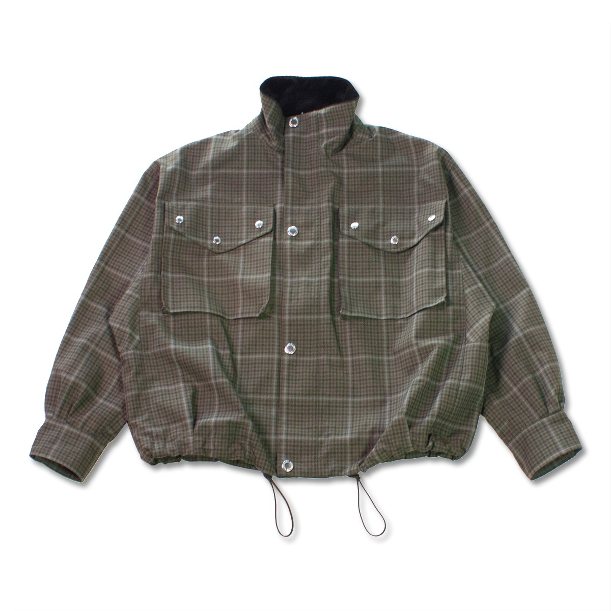 [HAVERSACK] GABARDINE CHECK DENISON JACKET 'GREEN'
