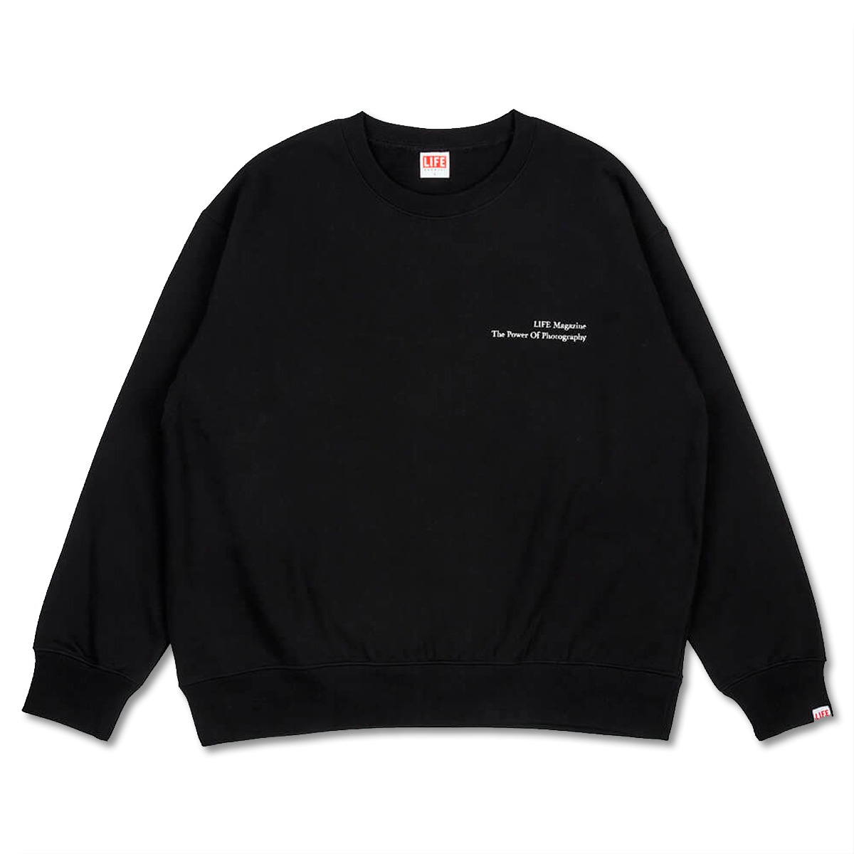 [LIFE ACHIVE] CLASSIC LETTERING SWEAT SHIRT 'BLACK'
