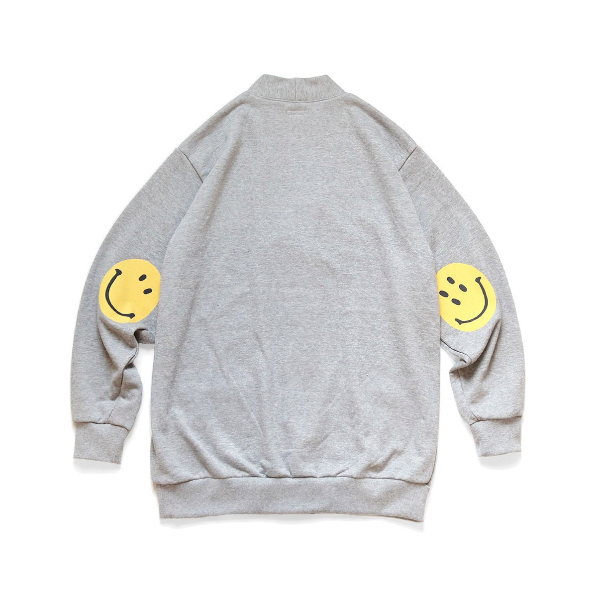 [KAPITAL] ECO FLEECY KNIT CARDIGAN (ELBOW SMILE) 'GREY'