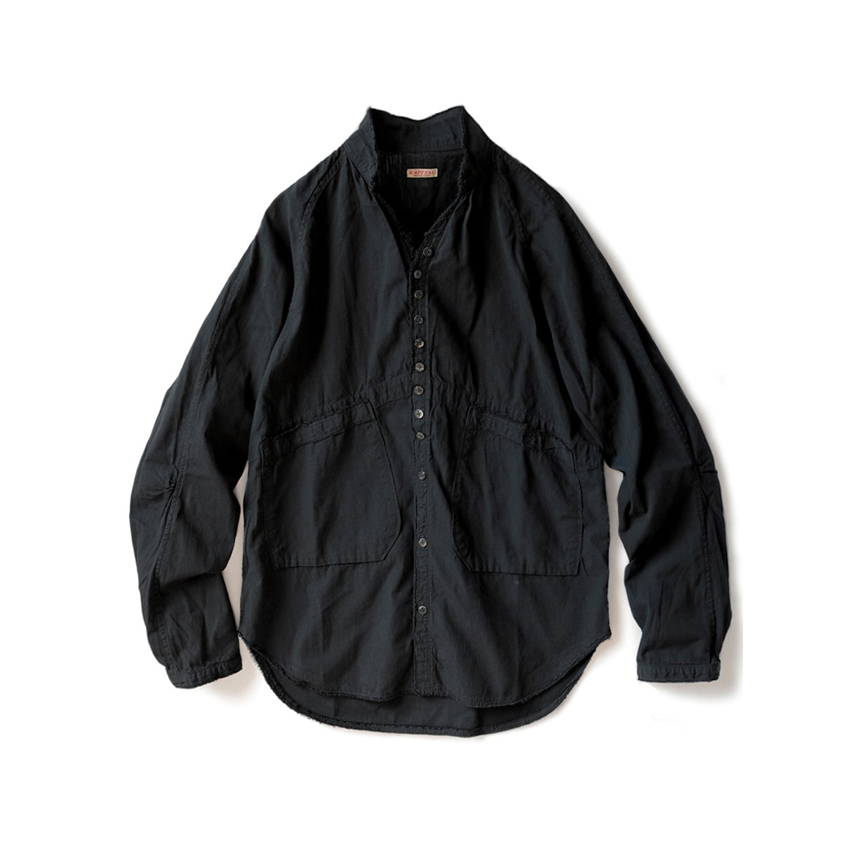 [KAPITAL] BLACK BROAD CLOTH BASQUIAT SHIRT 'BLACK'
