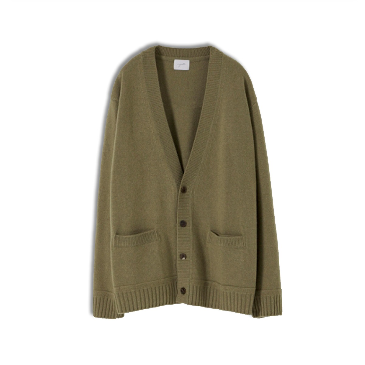 [YOUTH] OVERSIZED CARDIGAN 'OLIVE GREY'