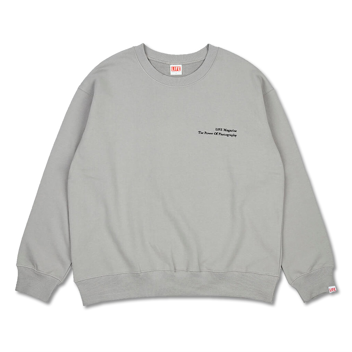 [LIFE ACHIVE] CLASSIC LETTERING SWEAT SHIRT 'GREY'