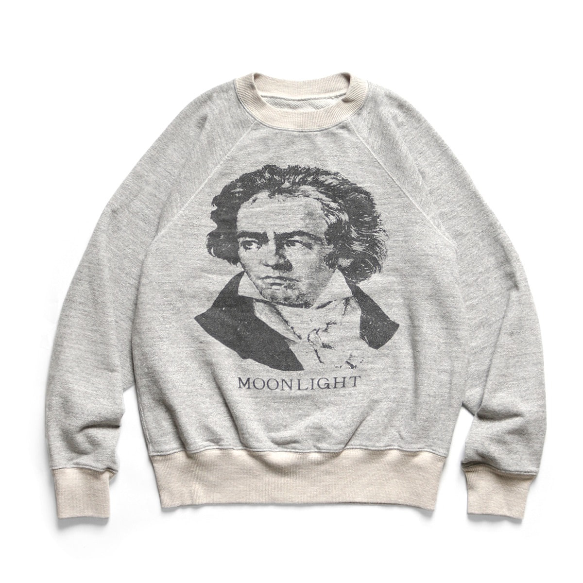 [KAPITAL] TOP FLEECE KNIT RAGLAN SWT (BEETHOVEN MOON LIGHT) 'GREY'