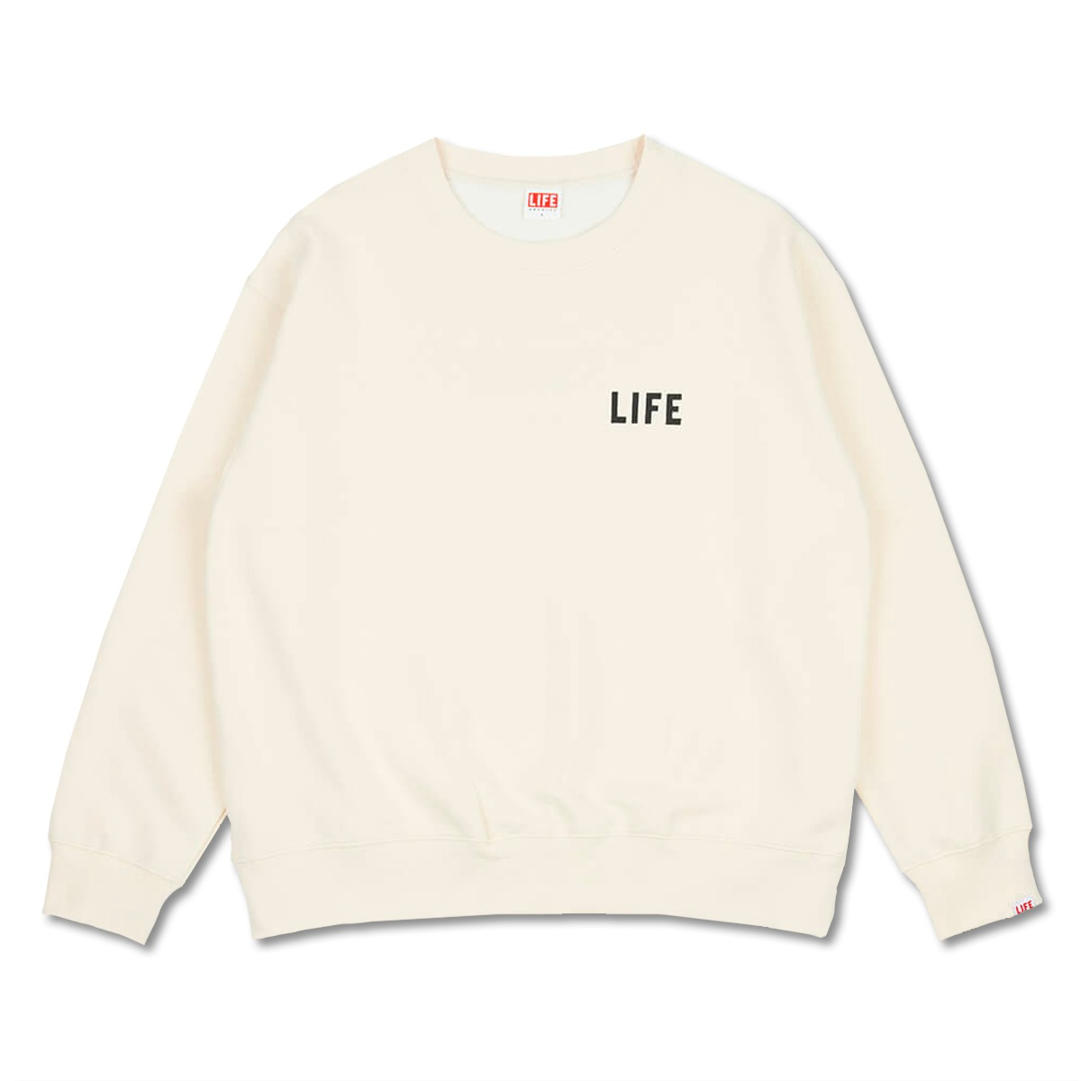 [LIFE ACHIVE] JOURNAL SWEAT SHIRT 'IVORY'