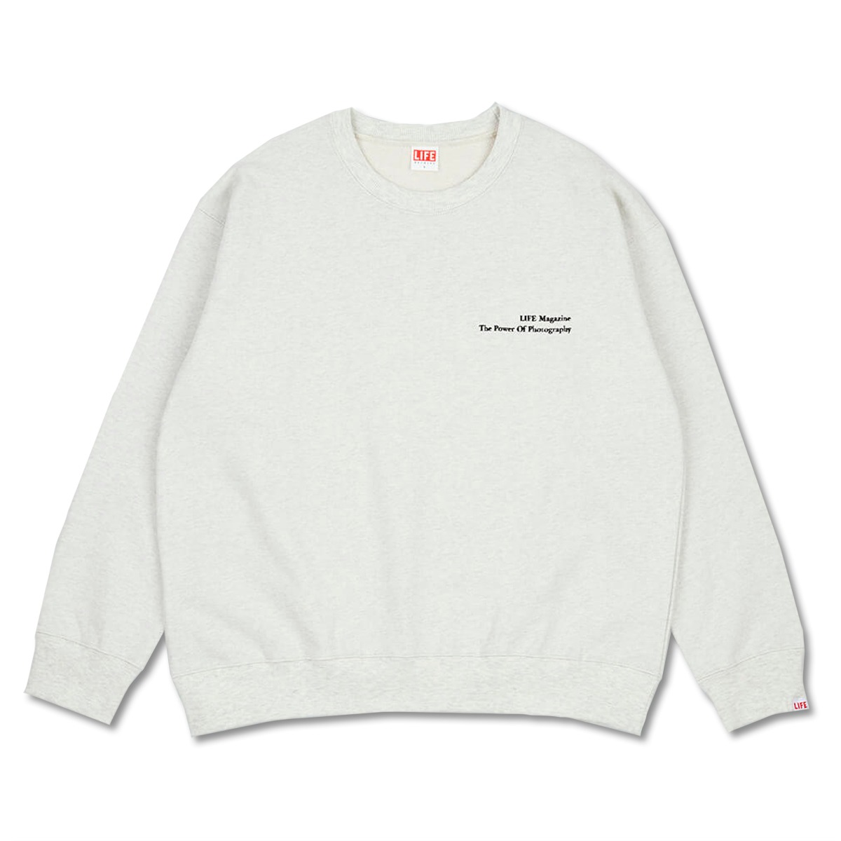 [LIFE ACHIVE] CLASSIC LETTERING SWEAT SHIRT 'OATMEAL'