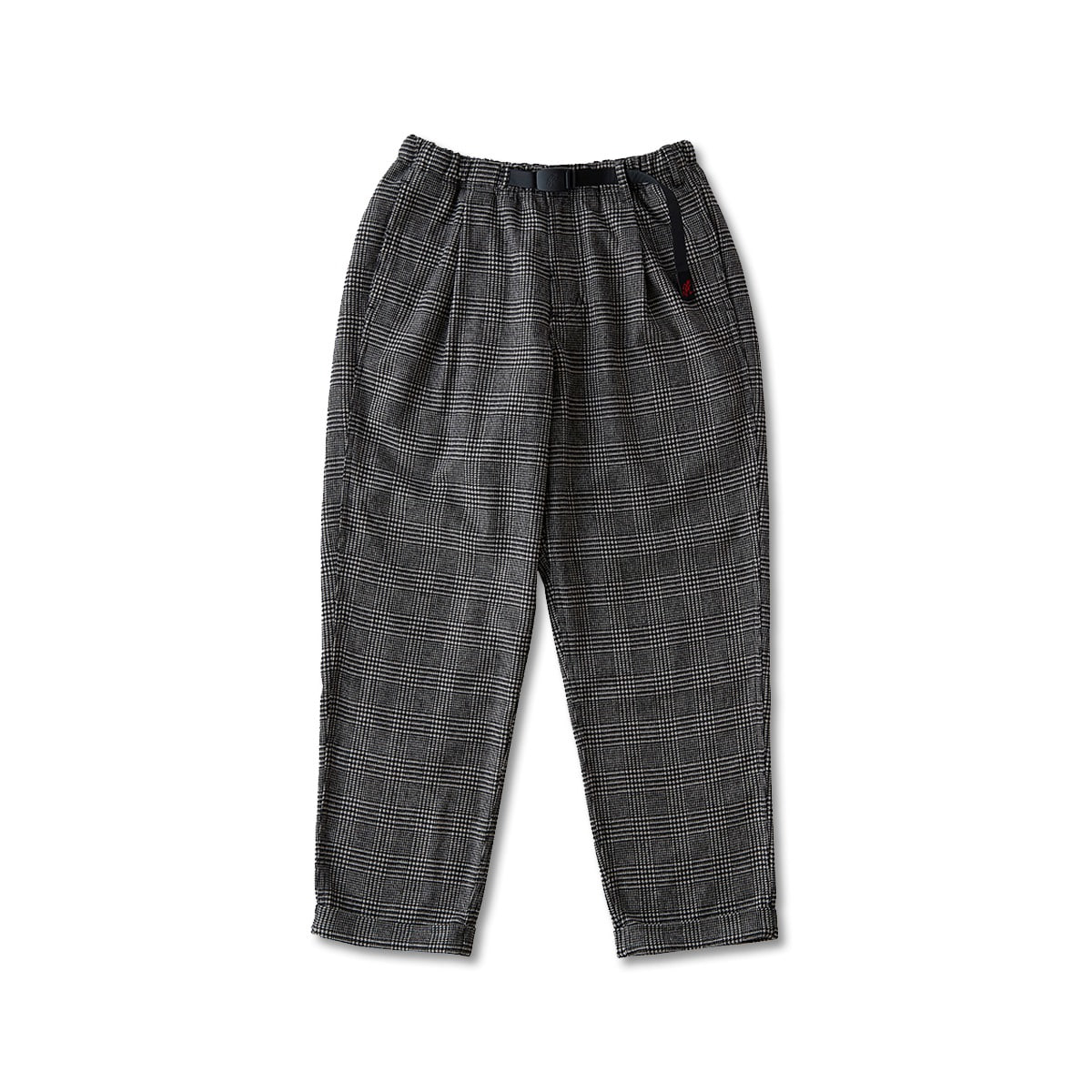 [GRAMICCI] WOOL BLEND TUCK TAPERED PANTS 'HOUNDSTOOTH PATTERN'