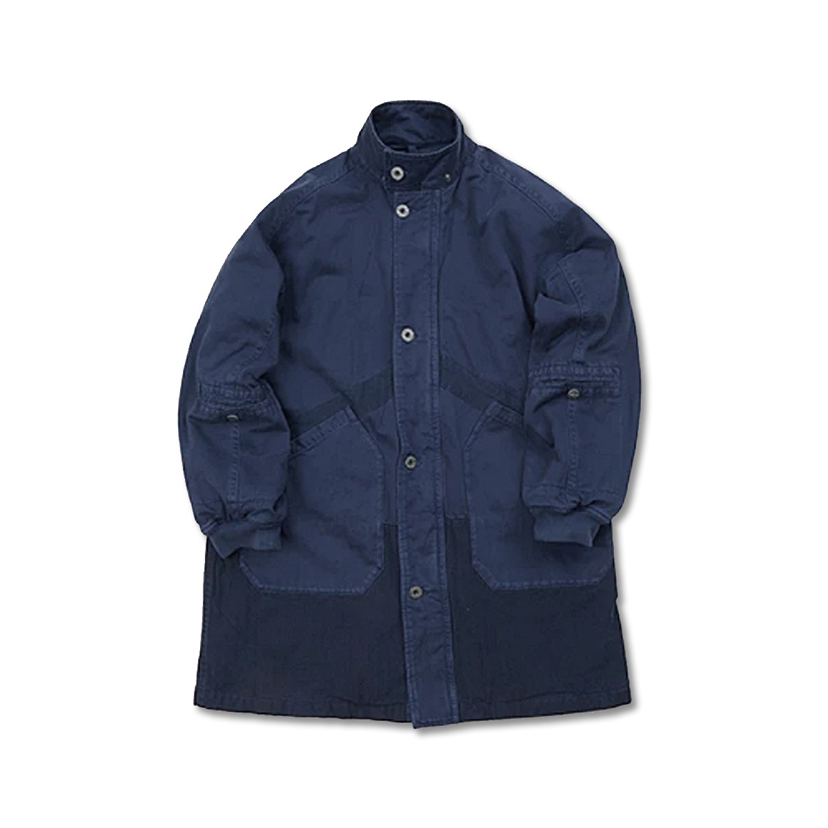 [NIGEL CABOURN] HOODED ARCTIC COAT 'BLUE'