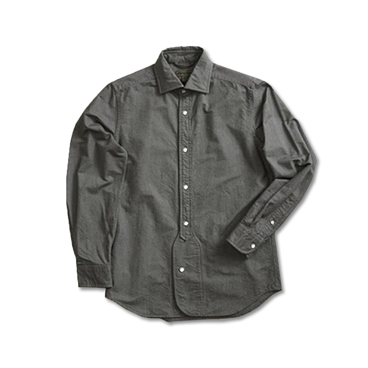 [NIGEL CABOURN] BRITISH OFFICERS SHIRT 'DARK GREEN'