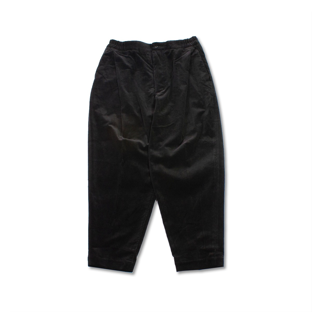 [HAVERSACK] CORDUROY PLEATED EASY PANTS 'BLACK'