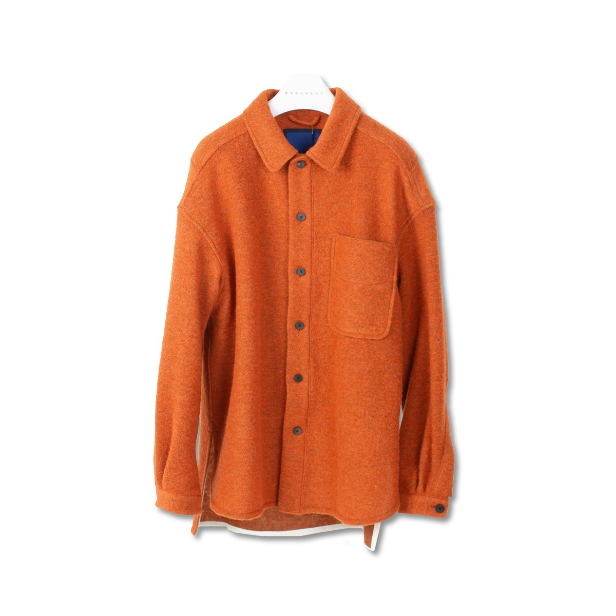 [DOCUMENT] WOOL SHIRT 'ORANGE'