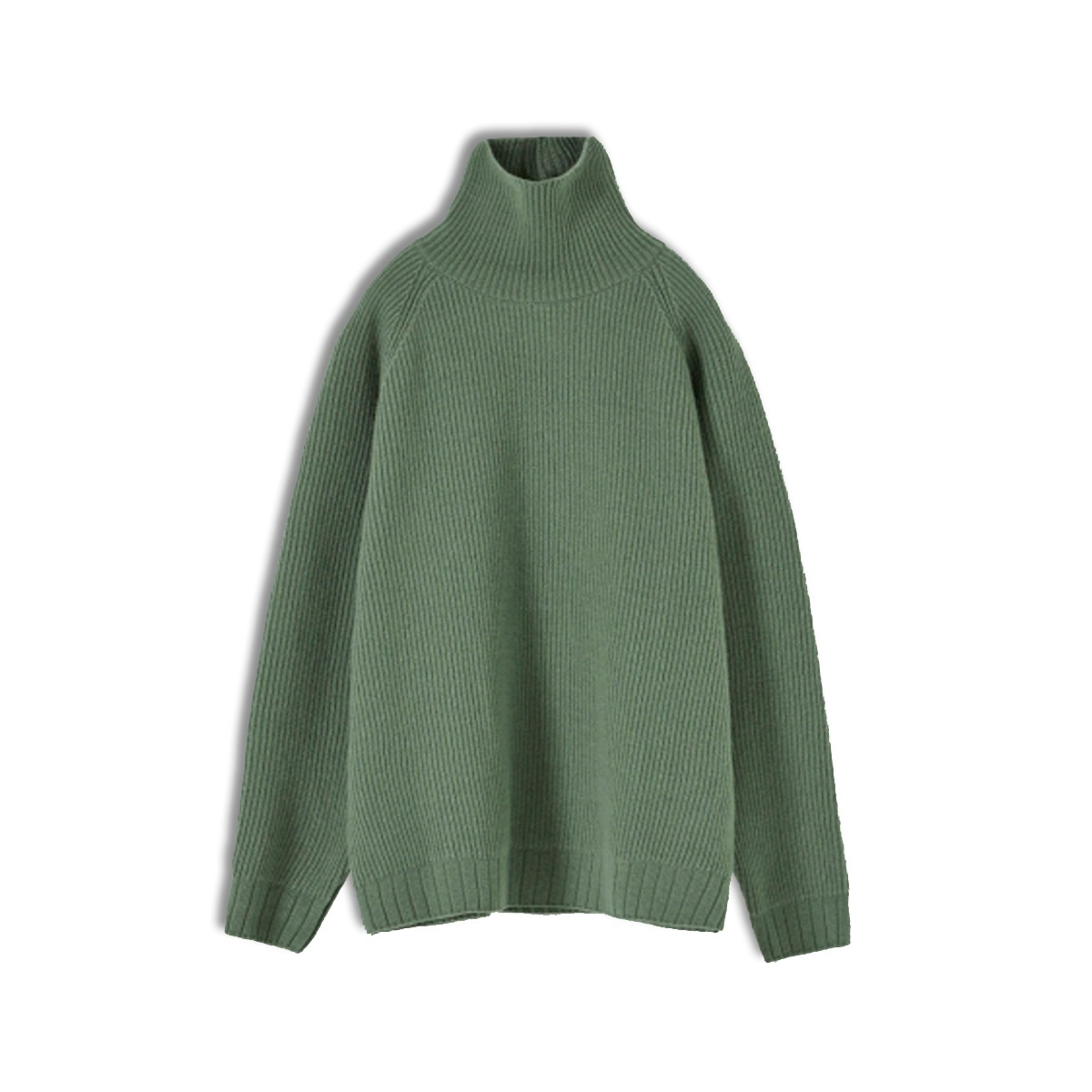 [YOUTH] OVERSIZED TURTLE NECK SWEATER 'PALE GREEN'