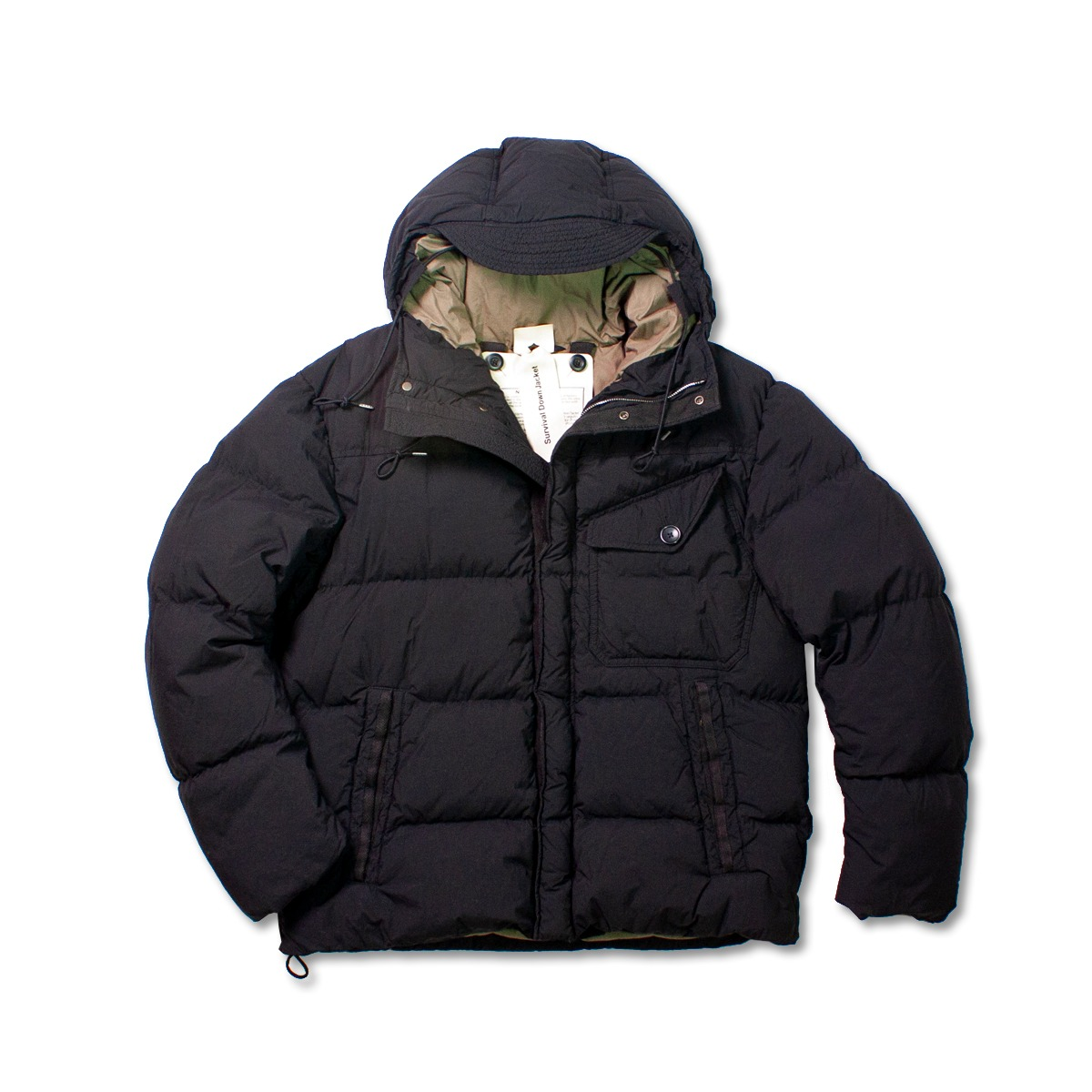 [TEN C] SURVIVAL DOWN JACKET 'BLACK'