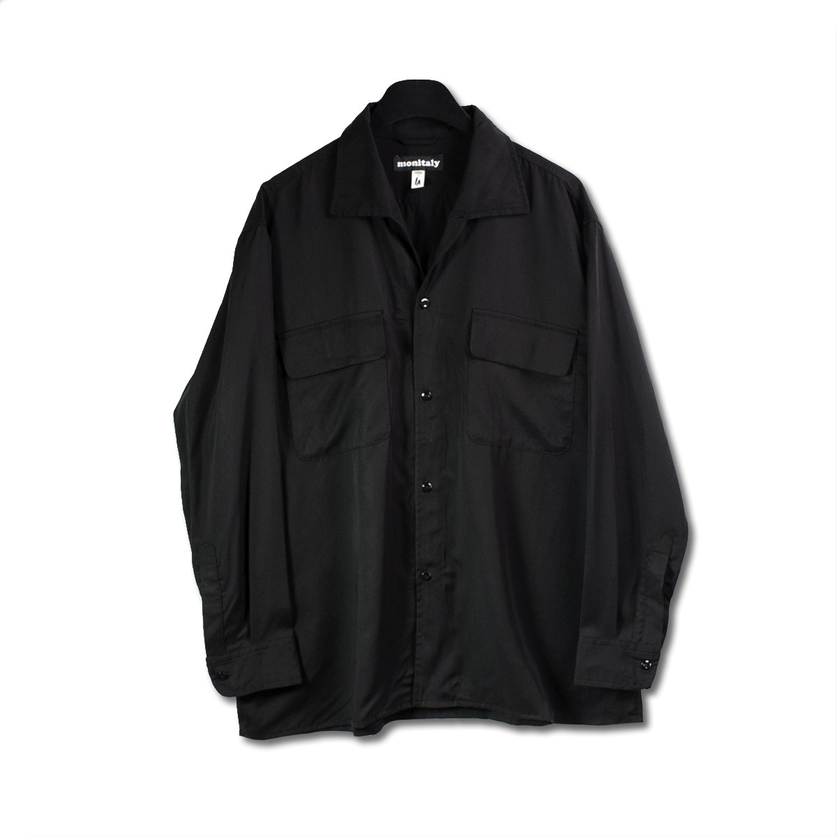 [MONITALY] MILANO SHIRT 'TENCEL BLACK'
