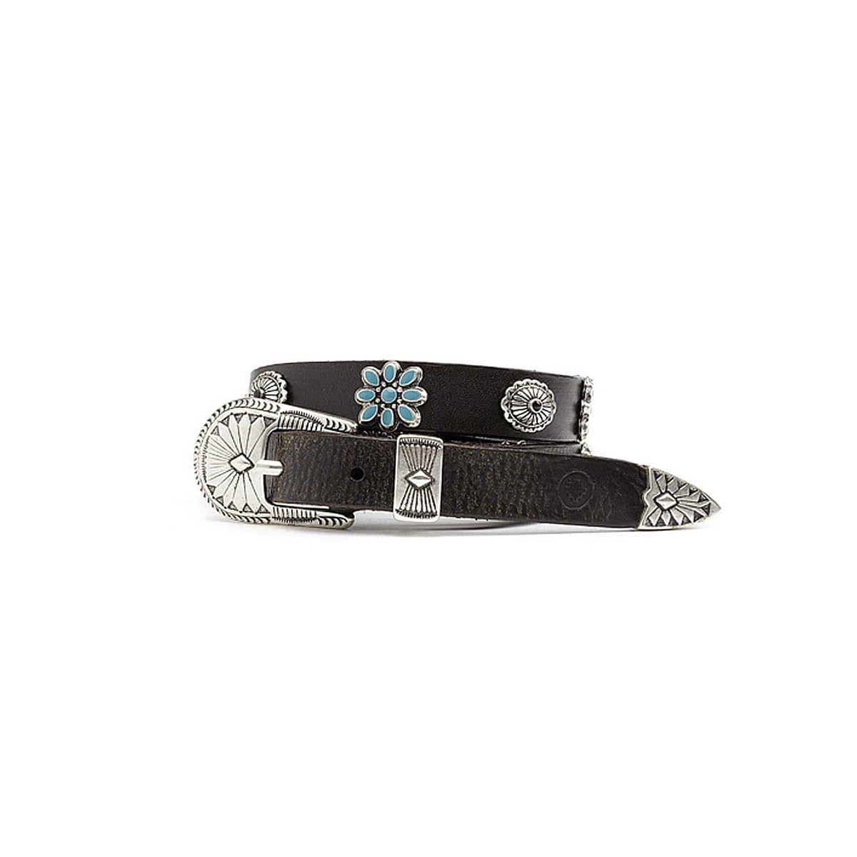 [RUST MOOD] WESTERN STYLE STUDDED BELT BLT 010  'BLACK'