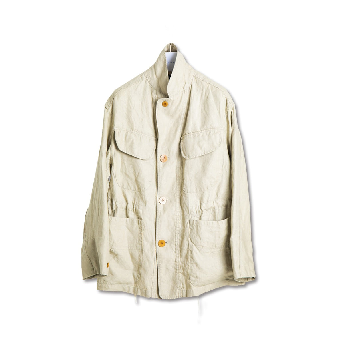[DOCUMENT] LINEN FIELD JACKET 'TAUPE'