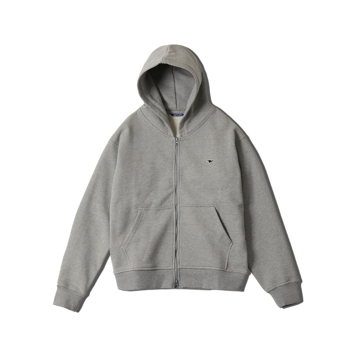 [NEITHERS] HOODIE ZIP UP 'M.GREY'