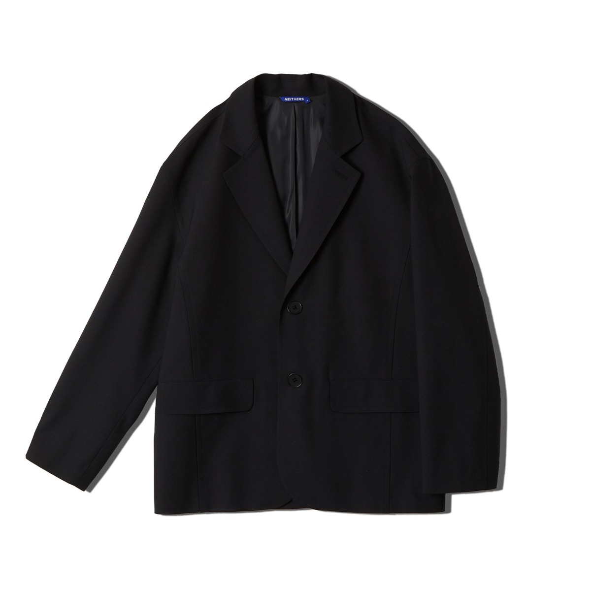 [NEITHERS] WOOL OVERSIZED 2B JACKET 'NAVY'