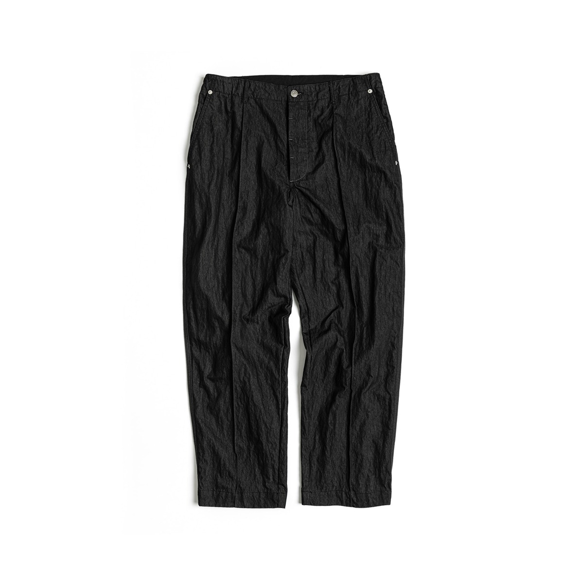 [UNAFFECTED] CONTRAST STITCH PANTS 'BLACK'