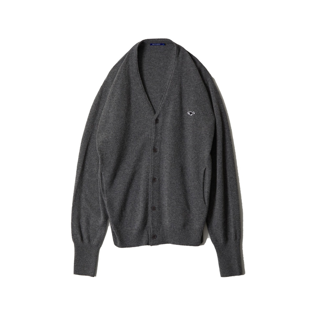 [NEITHERS] MERINO WOOL CARDIGAN 'CHARCOAL'