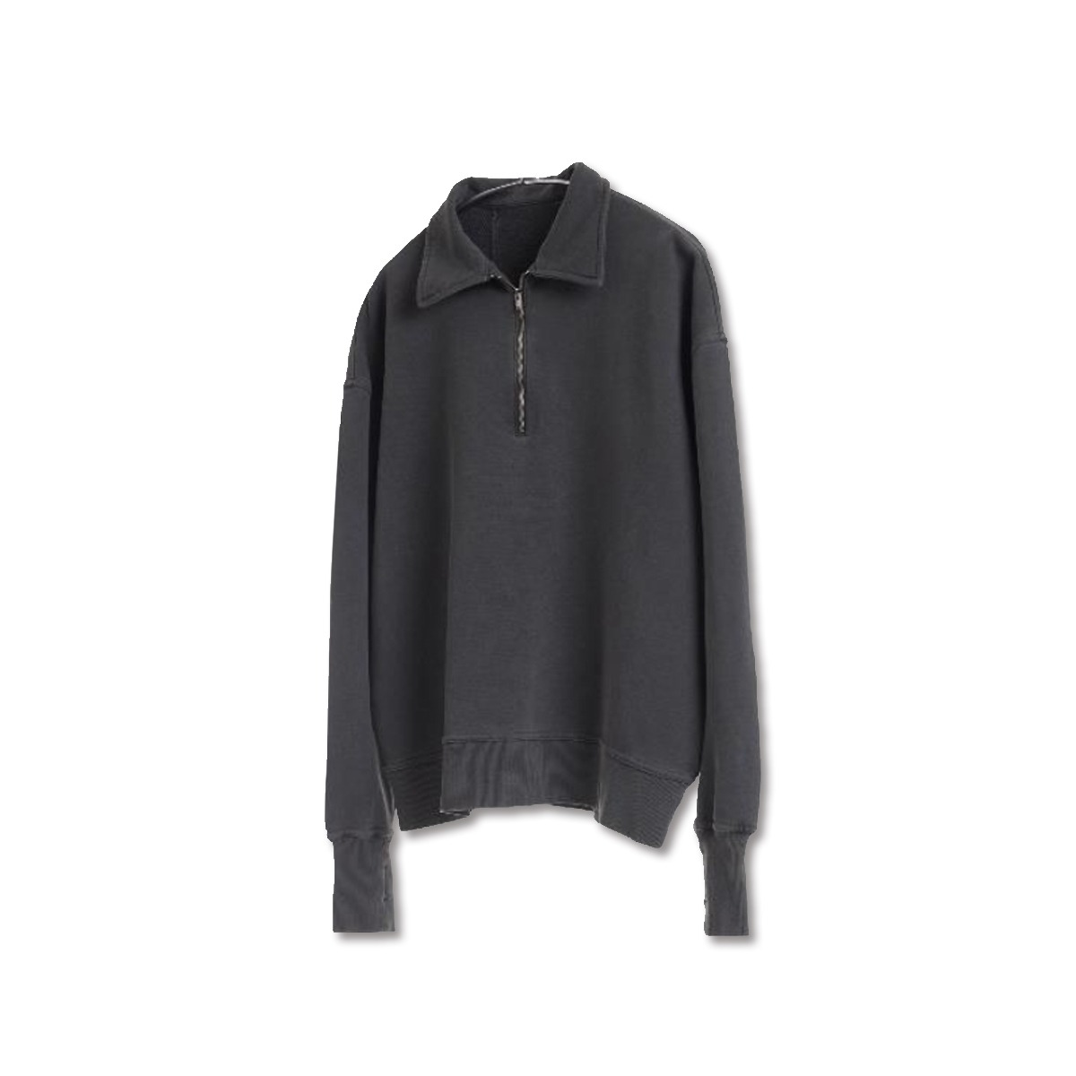 [YOUTH] DYED COLLAR SWEATSHIRT 'BLACK'