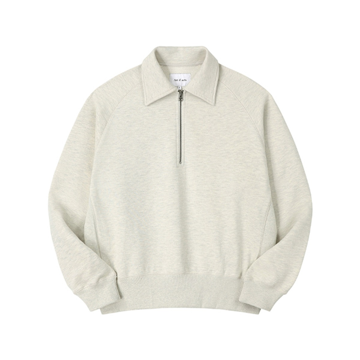 [ART IF ACTS] HALFZIPUP SWEAT SHIRT 'OATMEAL'