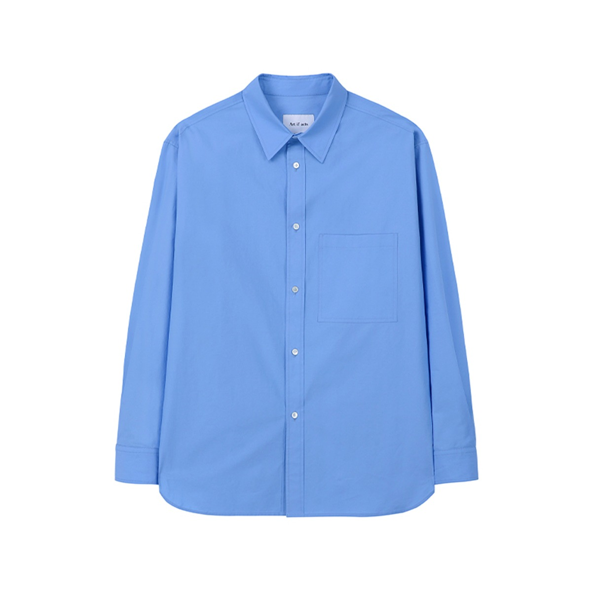 [ART IF ACTS] SOLID POCKET SHIRT 'SAX BLUE'