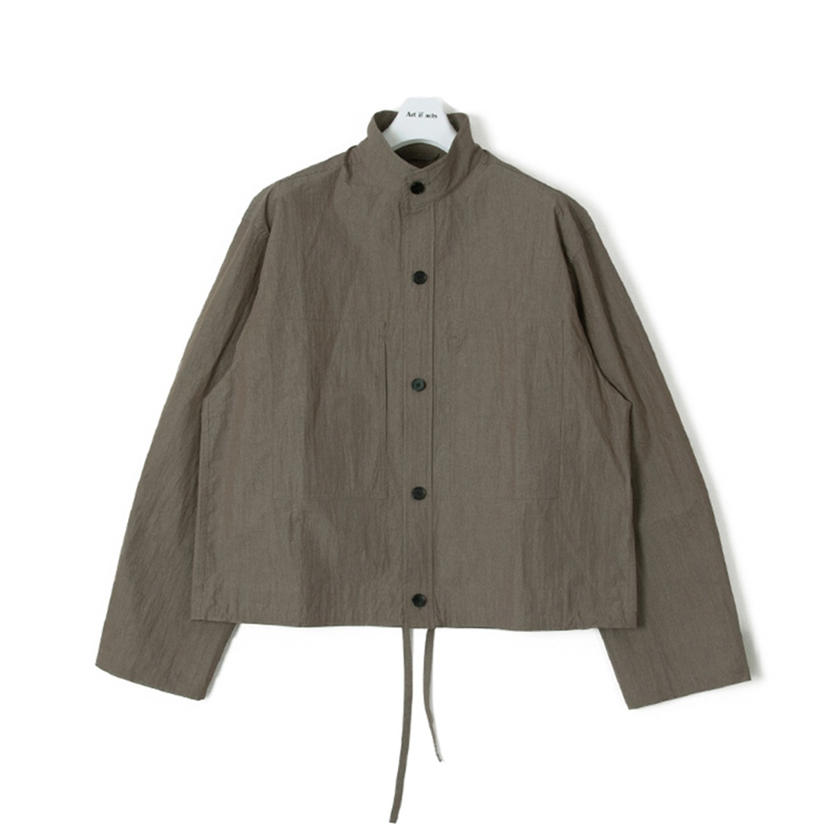 [ART IF ACTS] TWO POCKET STAND COLLAR SHIRTS 'KHAKI'