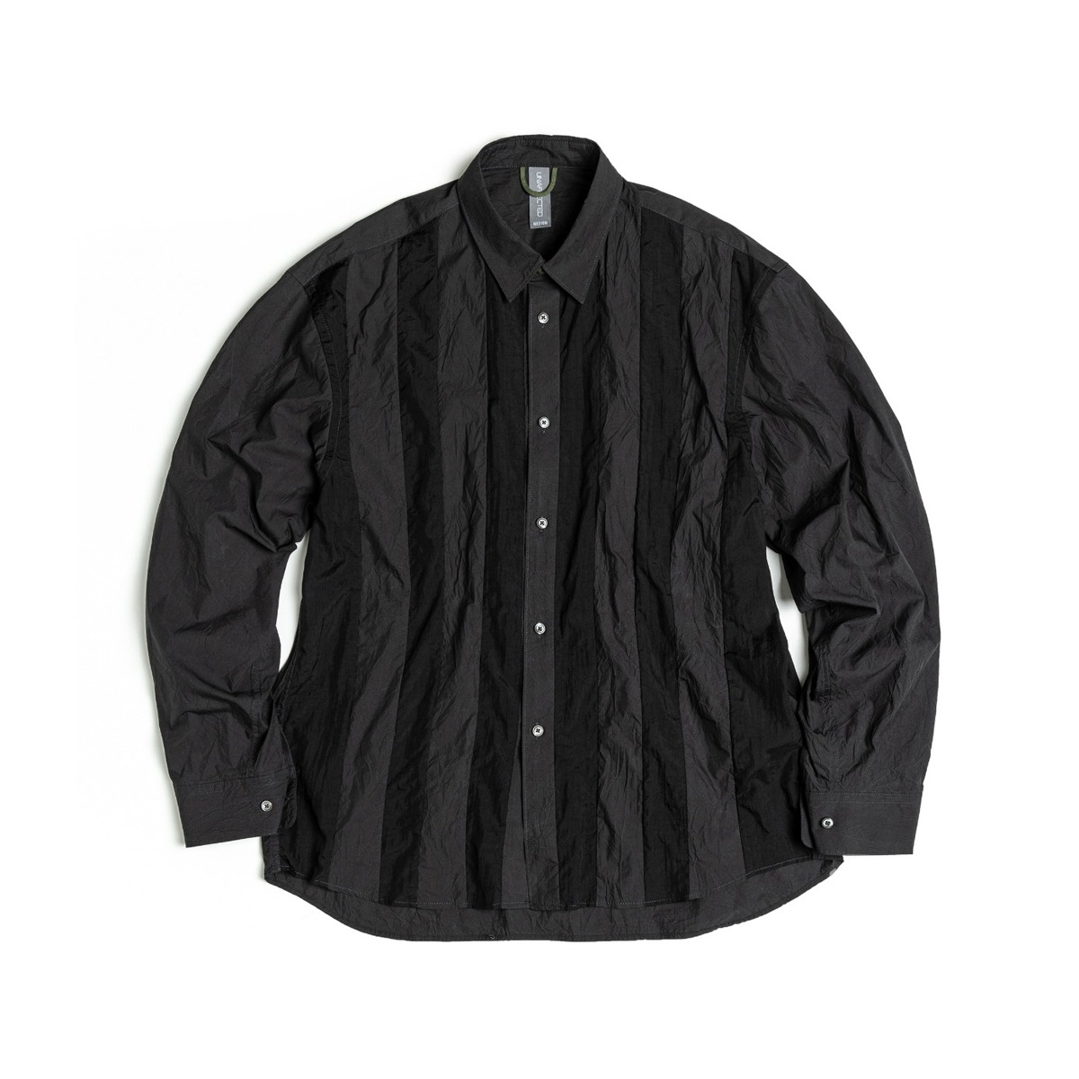 [UNAFFECTED] CONTRAST PANEL SHIRT 'BLACK'