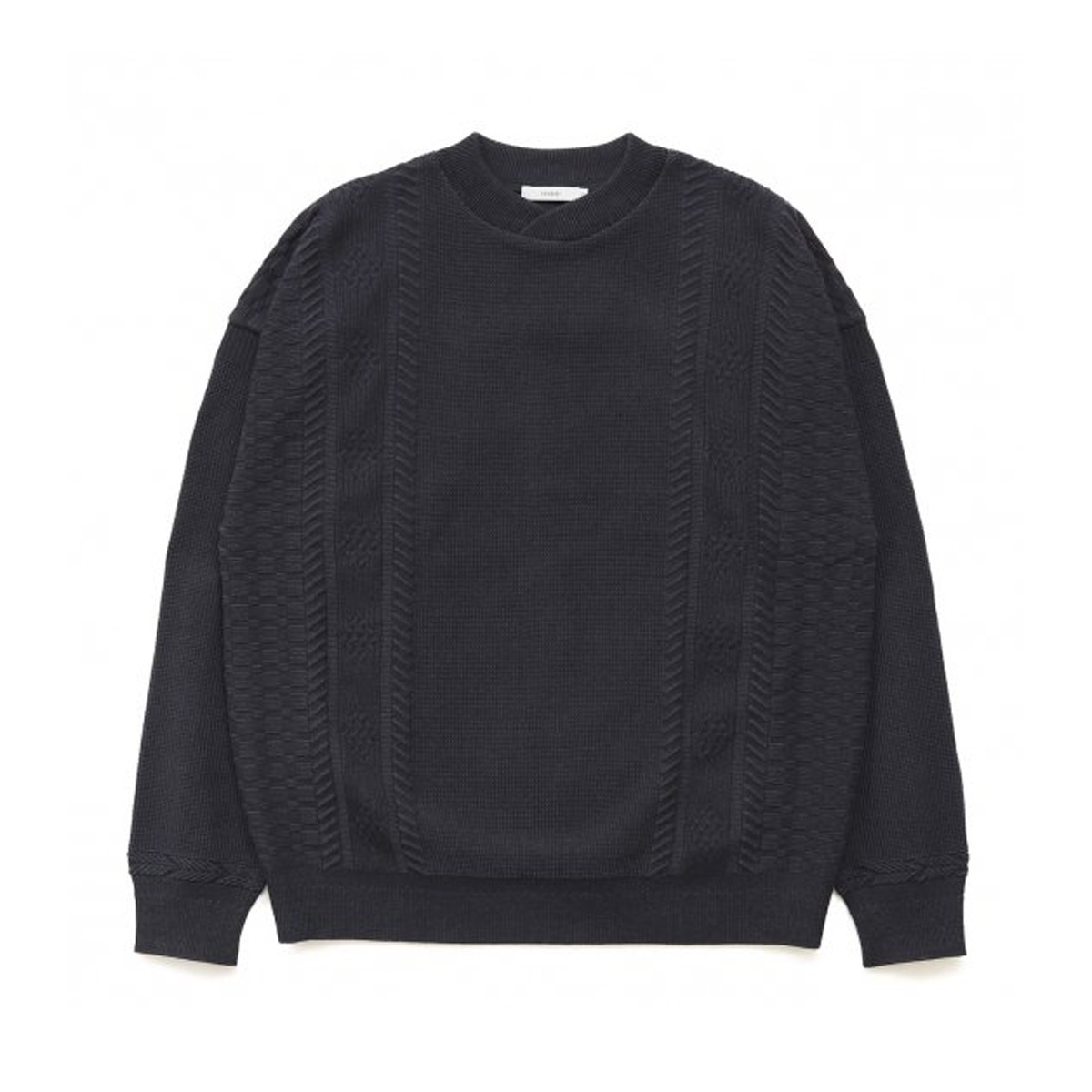 [YASHIKI] SHINGEN KNIT 'BLACK'