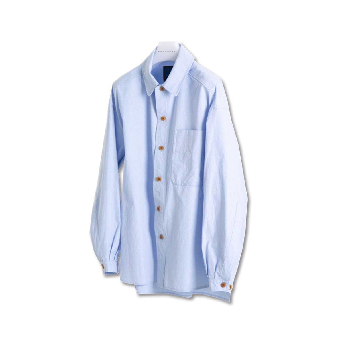 [DOCUMENT] OXFORD CHAMBRAY SET UP SHIRT 'SKY BLUE'