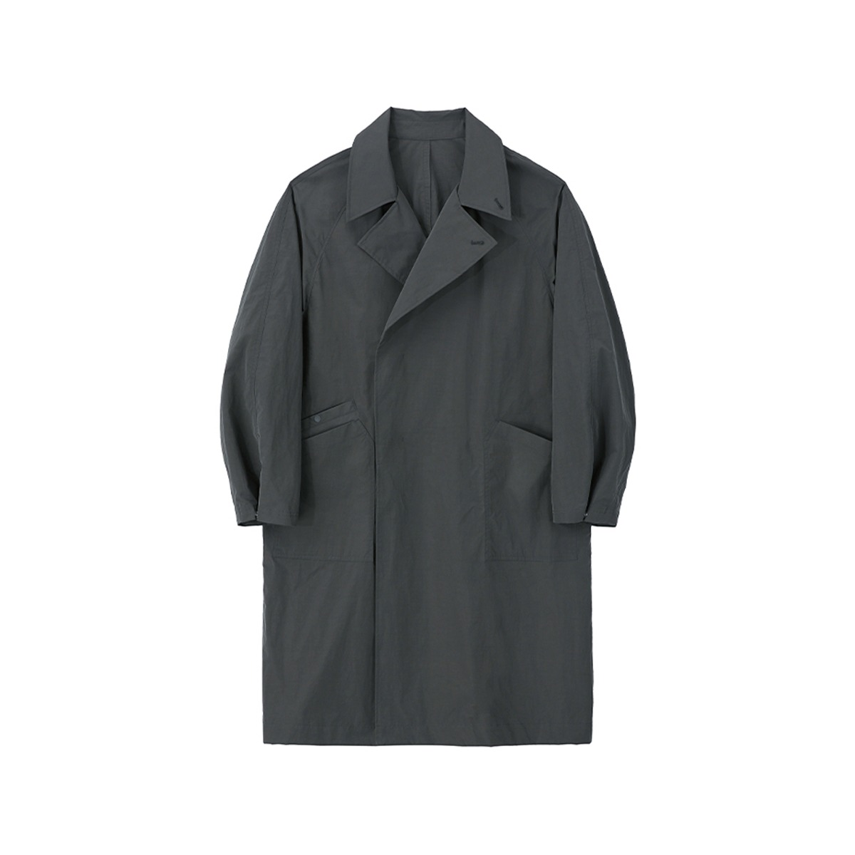 [ART IF ACTS] DOUBLE BREASTED PAPER COAT 'CHARCOAL'