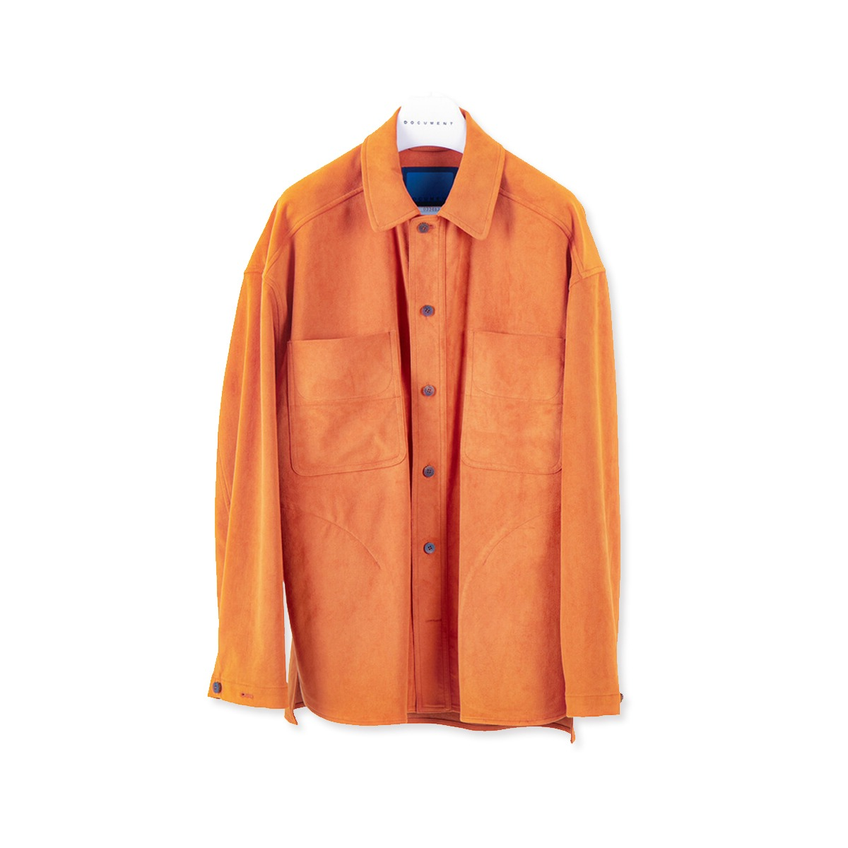 [DOCUMENT] VEGAN SUEDE SHIRTING JACKET 'APRICOT'