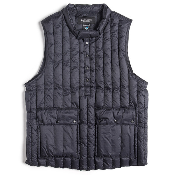 [EASTLOGUE] MOCK NECK PULLOVER DOWN VEST 'NAVY'