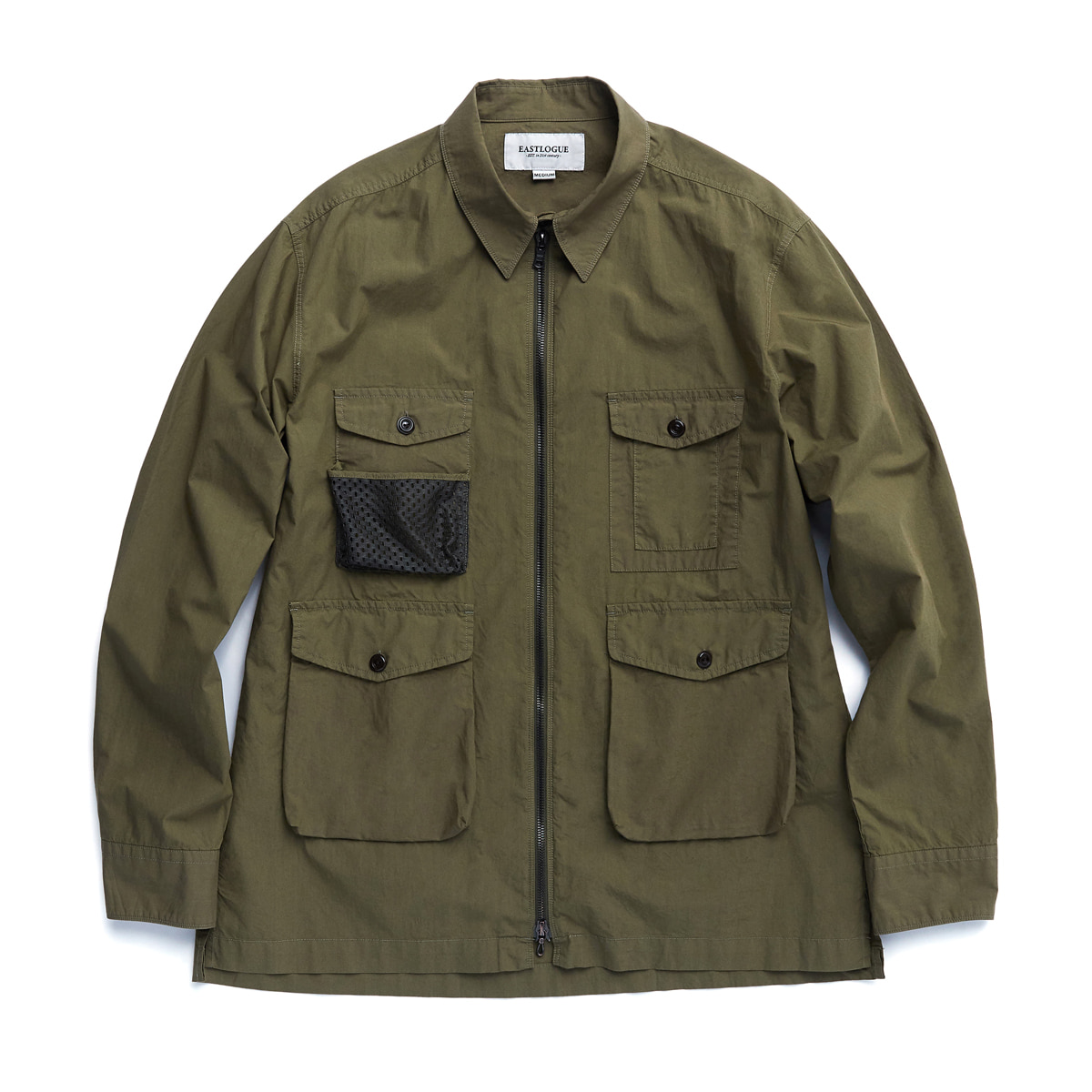 [EASTLOGUE] 4 POCKETS UTILITY SHIRT 'DYED OLIVE'