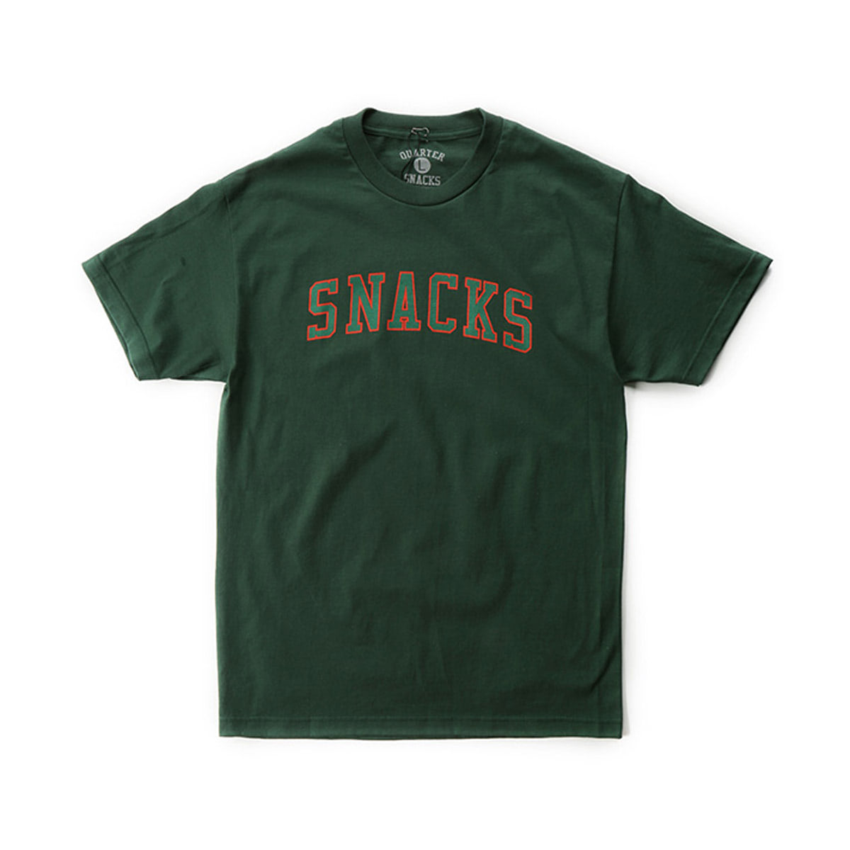 [QUARTERSNACKS] SNACKS VARSITY TEE 'FOREST GREEN'