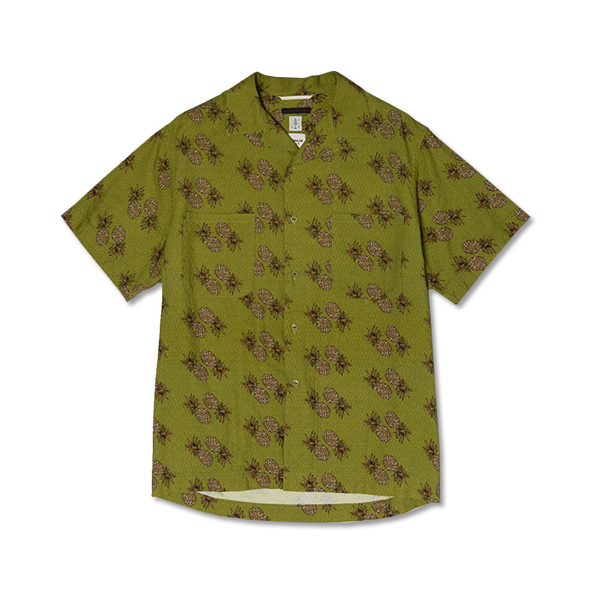 [EAST HARBOUR SURPLUS] MIAMI CAMP SHIRTS PINEAPPLE 'GREEN'